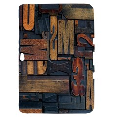 Letters Wooden Old Artwork Vintage Samsung Galaxy Tab 8.9  P7300 Hardshell Case