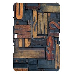 Letters Wooden Old Artwork Vintage Samsung Galaxy Tab 10.1  P7500 Hardshell Case