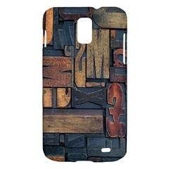 Letters Wooden Old Artwork Vintage Samsung Galaxy S II Skyrocket Hardshell Case