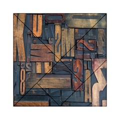Letters Wooden Old Artwork Vintage Acrylic Tangram Puzzle (6  x 6 )