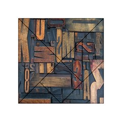 Letters Wooden Old Artwork Vintage Acrylic Tangram Puzzle (4  x 4 )