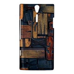 Letters Wooden Old Artwork Vintage Sony Xperia S