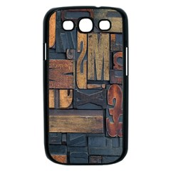 Letters Wooden Old Artwork Vintage Samsung Galaxy S III Case (Black)