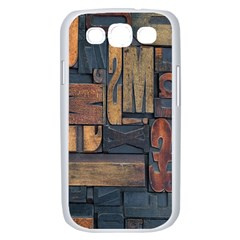 Letters Wooden Old Artwork Vintage Samsung Galaxy S III Case (White)