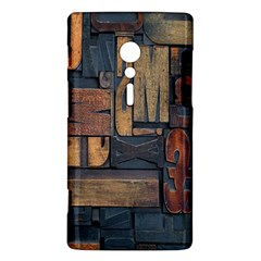 Letters Wooden Old Artwork Vintage Sony Xperia ion
