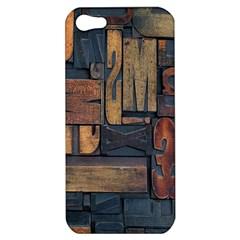 Letters Wooden Old Artwork Vintage Apple iPhone 5 Hardshell Case
