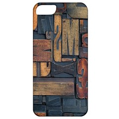 Letters Wooden Old Artwork Vintage Apple iPhone 5 Classic Hardshell Case