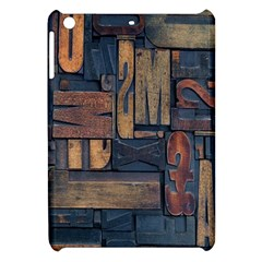 Letters Wooden Old Artwork Vintage Apple iPad Mini Hardshell Case