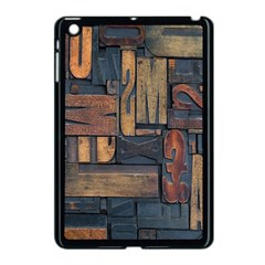 Letters Wooden Old Artwork Vintage Apple iPad Mini Case (Black)