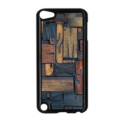 Letters Wooden Old Artwork Vintage Apple iPod Touch 5 Case (Black)