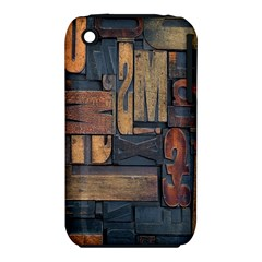 Letters Wooden Old Artwork Vintage Apple iPhone 3G/3GS Hardshell Case (PC+Silicone)