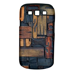 Letters Wooden Old Artwork Vintage Samsung Galaxy S III Classic Hardshell Case (PC+Silicone)
