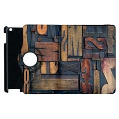 Letters Wooden Old Artwork Vintage Apple iPad 3/4 Flip 360 Case