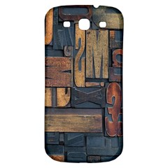 Letters Wooden Old Artwork Vintage Samsung Galaxy S3 S III Classic Hardshell Back Case