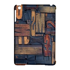 Letters Wooden Old Artwork Vintage Apple iPad Mini Hardshell Case (Compatible with Smart Cover)