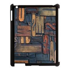 Letters Wooden Old Artwork Vintage Apple iPad 3/4 Case (Black)