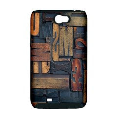 Letters Wooden Old Artwork Vintage Samsung Galaxy Note 2 Hardshell Case (PC+Silicone)