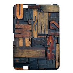 Letters Wooden Old Artwork Vintage Kindle Fire HD 8.9