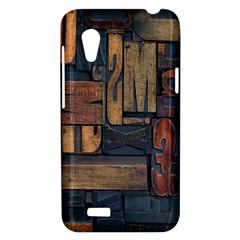 Letters Wooden Old Artwork Vintage HTC Desire VT (T328T) Hardshell Case