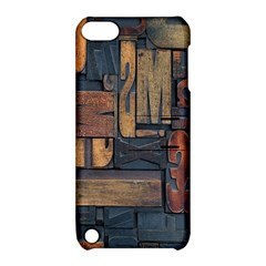 Letters Wooden Old Artwork Vintage Apple iPod Touch 5 Hardshell Case with Stand