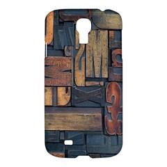 Letters Wooden Old Artwork Vintage Samsung Galaxy S4 I9500/I9505 Hardshell Case