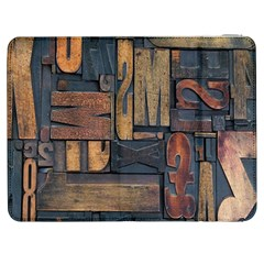 Letters Wooden Old Artwork Vintage Samsung Galaxy Tab 7  P1000 Flip Case
