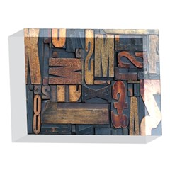 Letters Wooden Old Artwork Vintage 5 x 7  Acrylic Photo Blocks