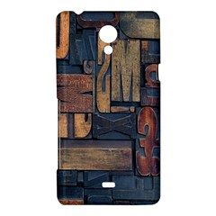 Letters Wooden Old Artwork Vintage Sony Xperia T