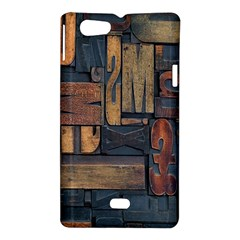 Letters Wooden Old Artwork Vintage Sony Xperia Miro