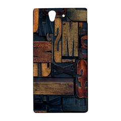 Letters Wooden Old Artwork Vintage Sony Xperia Z