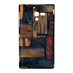Letters Wooden Old Artwork Vintage Sony Xperia ZL (L35H)