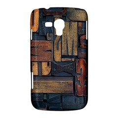 Letters Wooden Old Artwork Vintage Samsung Galaxy Duos I8262 Hardshell Case