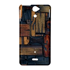 Letters Wooden Old Artwork Vintage Sony Xperia V