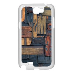 Letters Wooden Old Artwork Vintage Samsung Galaxy Note 2 Case (White)