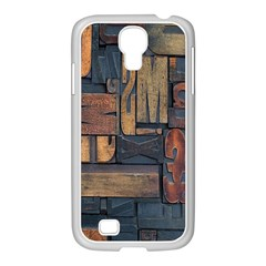 Letters Wooden Old Artwork Vintage Samsung GALAXY S4 I9500/ I9505 Case (White)