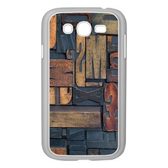 Letters Wooden Old Artwork Vintage Samsung Galaxy Grand DUOS I9082 Case (White)