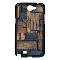 Letters Wooden Old Artwork Vintage Samsung Galaxy Note 2 Case (Black)