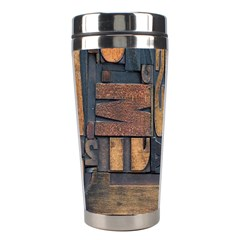 Letters Wooden Old Artwork Vintage Stainless Steel Travel Tumblers