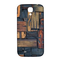 Letters Wooden Old Artwork Vintage Samsung Galaxy S4 I9500/I9505  Hardshell Back Case