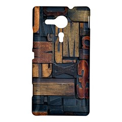 Letters Wooden Old Artwork Vintage Sony Xperia SP