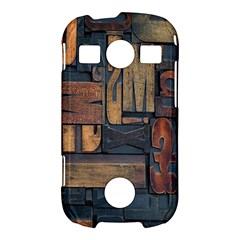 Letters Wooden Old Artwork Vintage Samsung Galaxy S7710 Xcover 2 Hardshell Case