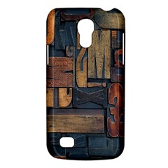 Letters Wooden Old Artwork Vintage Galaxy S4 Mini