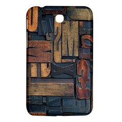 Letters Wooden Old Artwork Vintage Samsung Galaxy Tab 3 (7 ) P3200 Hardshell Case