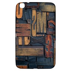 Letters Wooden Old Artwork Vintage Samsung Galaxy Tab 3 (8 ) T3100 Hardshell Case