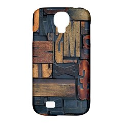 Letters Wooden Old Artwork Vintage Samsung Galaxy S4 Classic Hardshell Case (PC+Silicone)