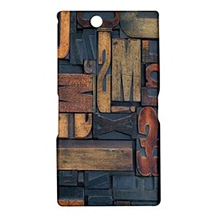 Letters Wooden Old Artwork Vintage Sony Xperia Z Ultra