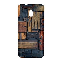 Letters Wooden Old Artwork Vintage HTC One Mini (601e) M4 Hardshell Case