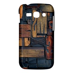 Letters Wooden Old Artwork Vintage Samsung Galaxy Ace 3 S7272 Hardshell Case