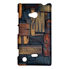 Letters Wooden Old Artwork Vintage Nokia Lumia 720