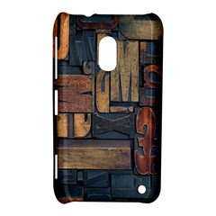 Letters Wooden Old Artwork Vintage Nokia Lumia 620